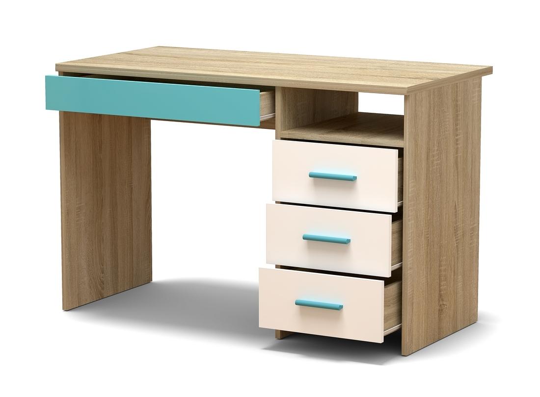 стол письменный синий