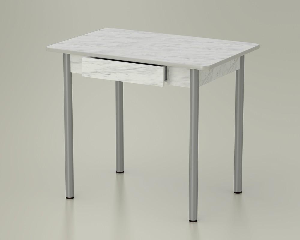 стол обеденный с ящиком мрамор