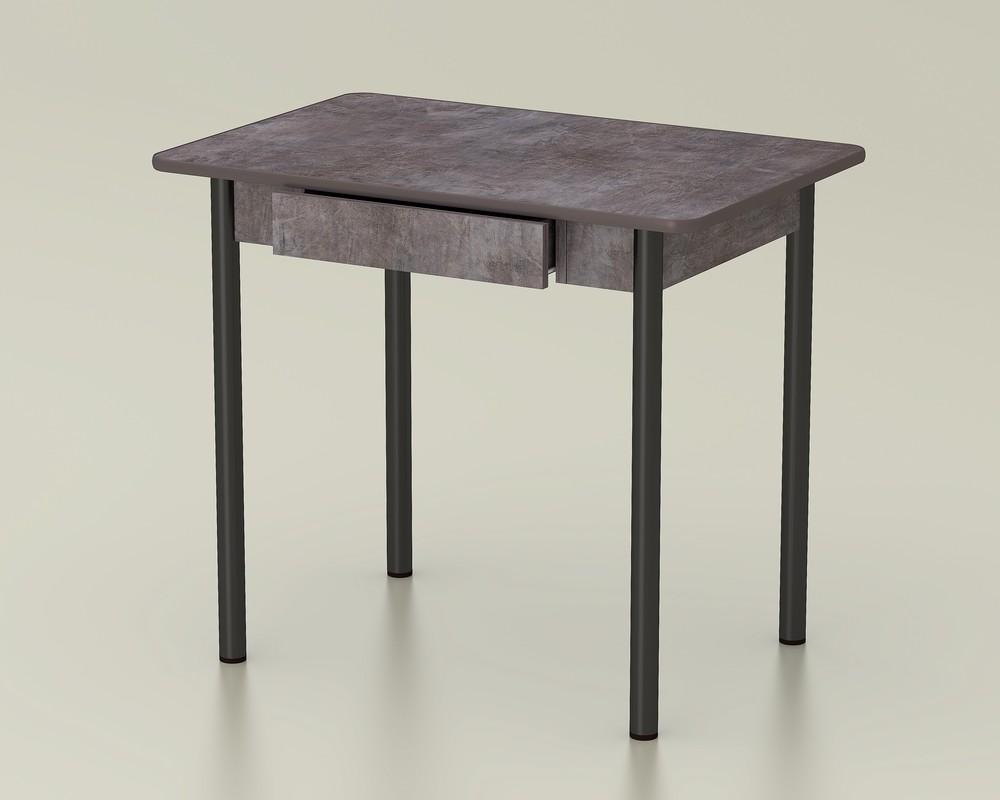 стол обеденный с ящиком темный камень