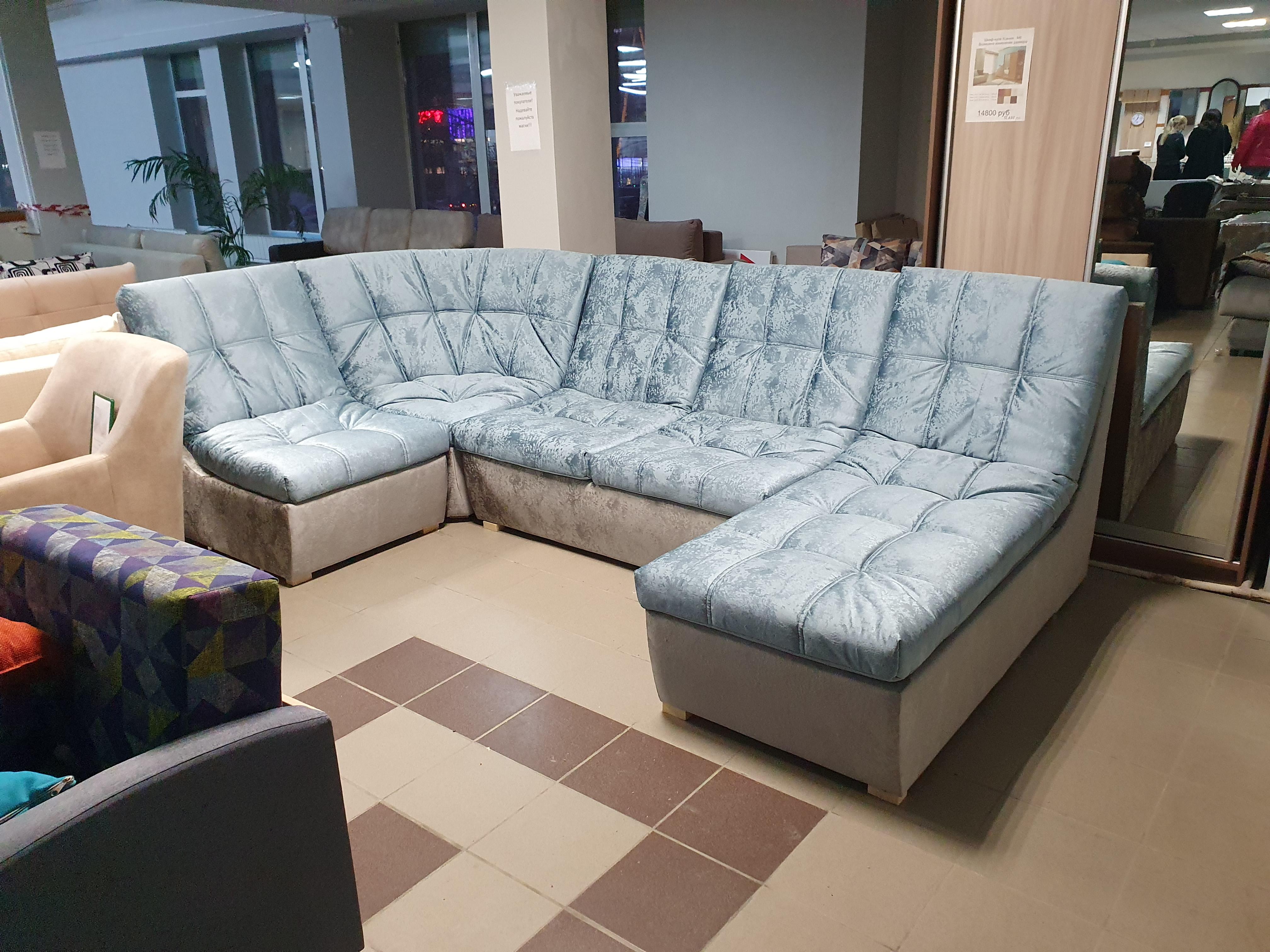 диван большой угловой модульный 4 элемента София 2