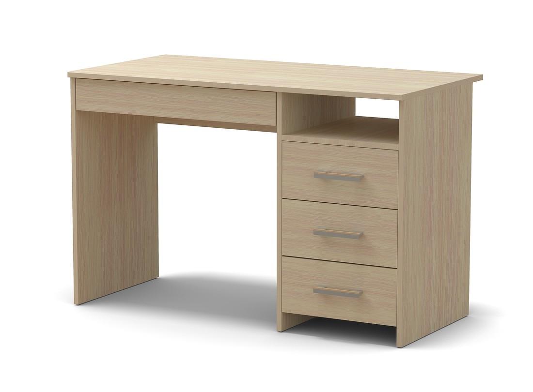стол письменный дуб млечный 4 ящика