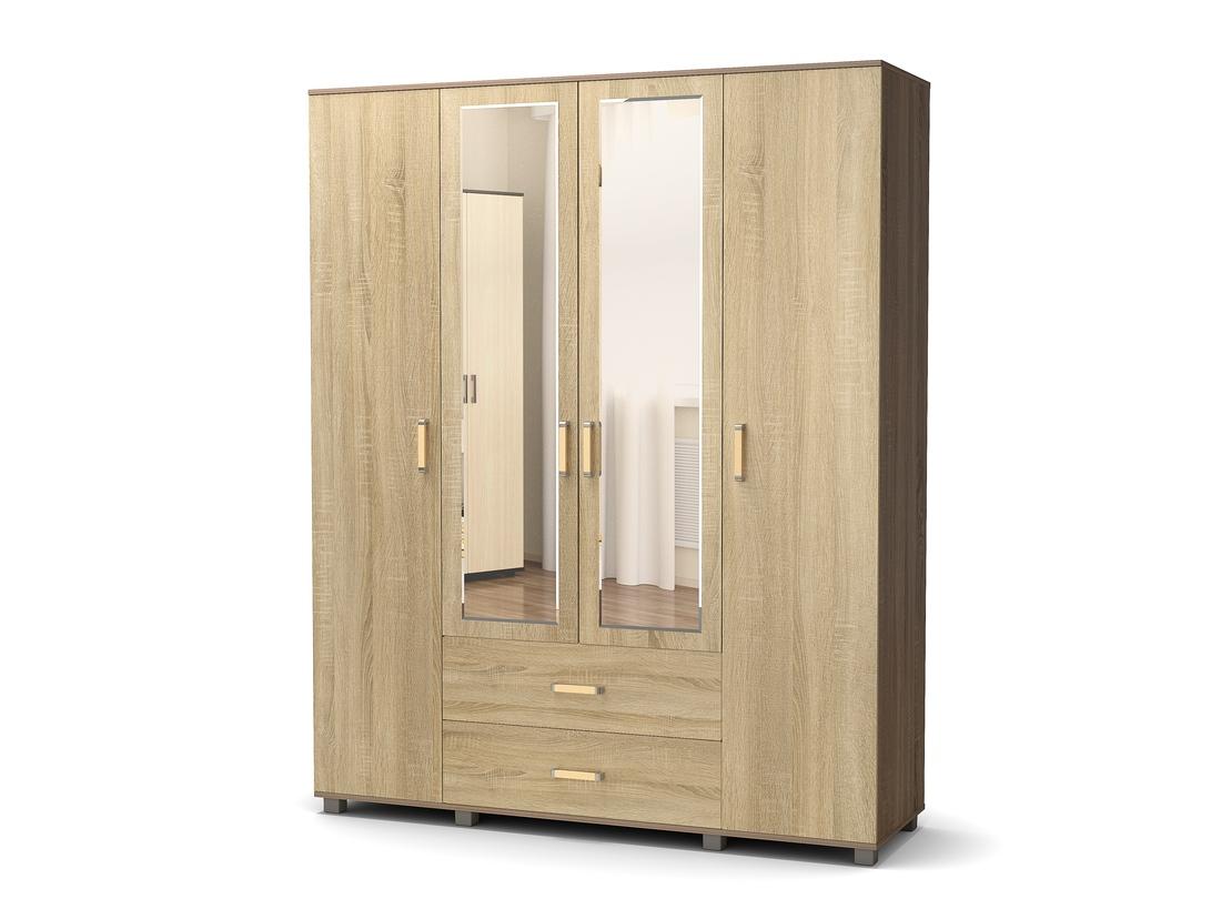 шкаф 4 створчатый дуб сонома - винтаж