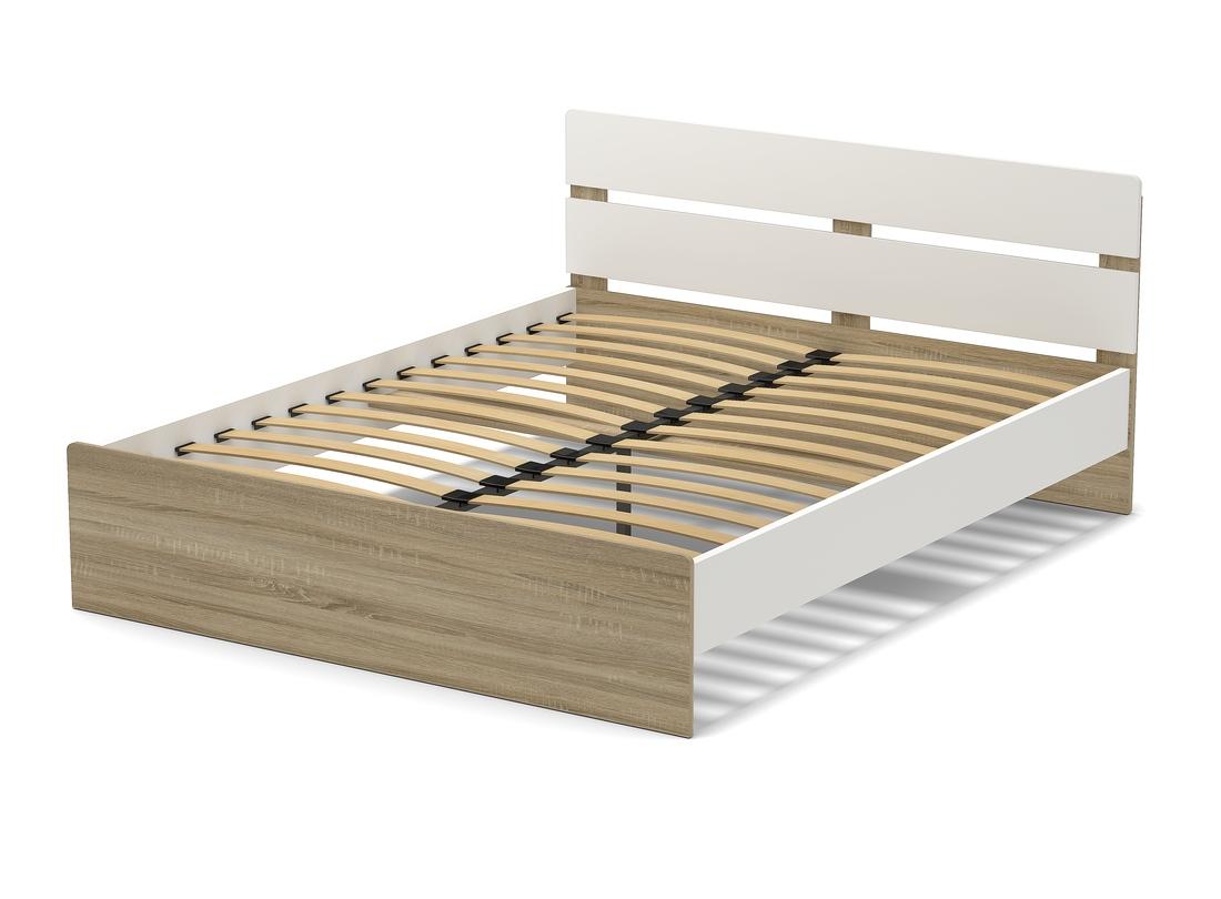 Кровать 1600 Дуб сонома - белый