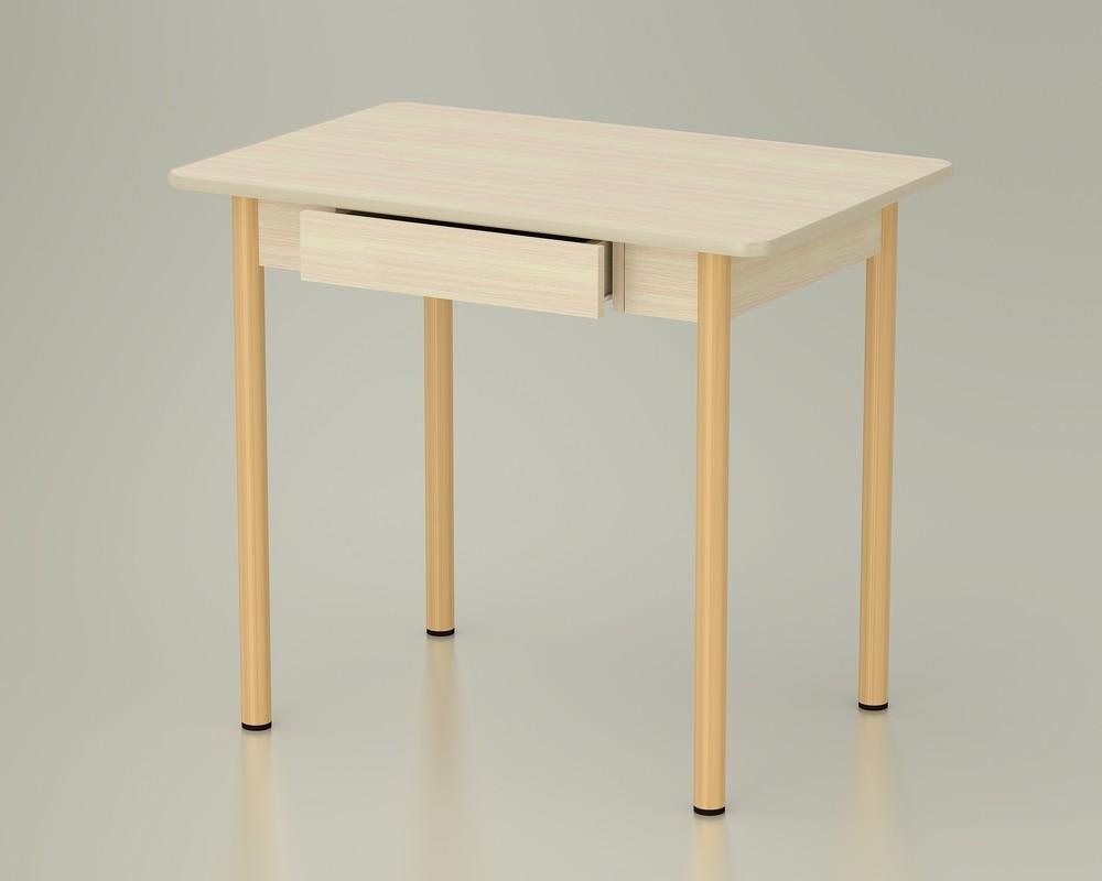 стол обеденный с ящиком дуб млечный