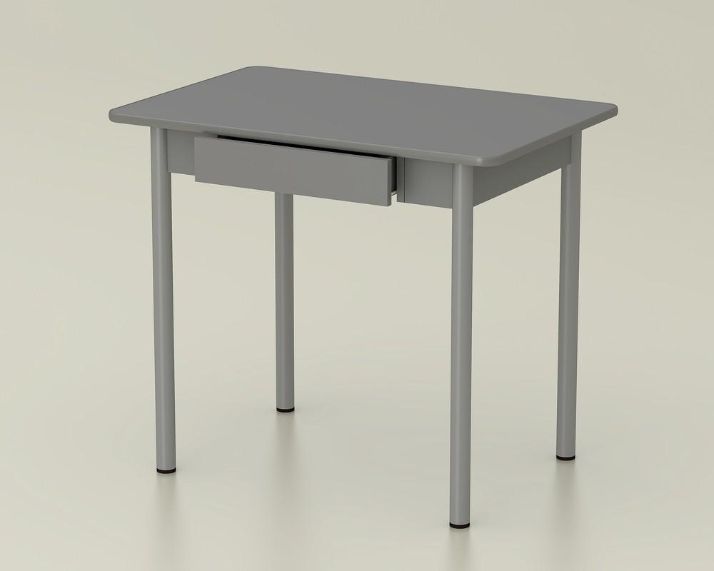 стол обеденный с ящиком платина