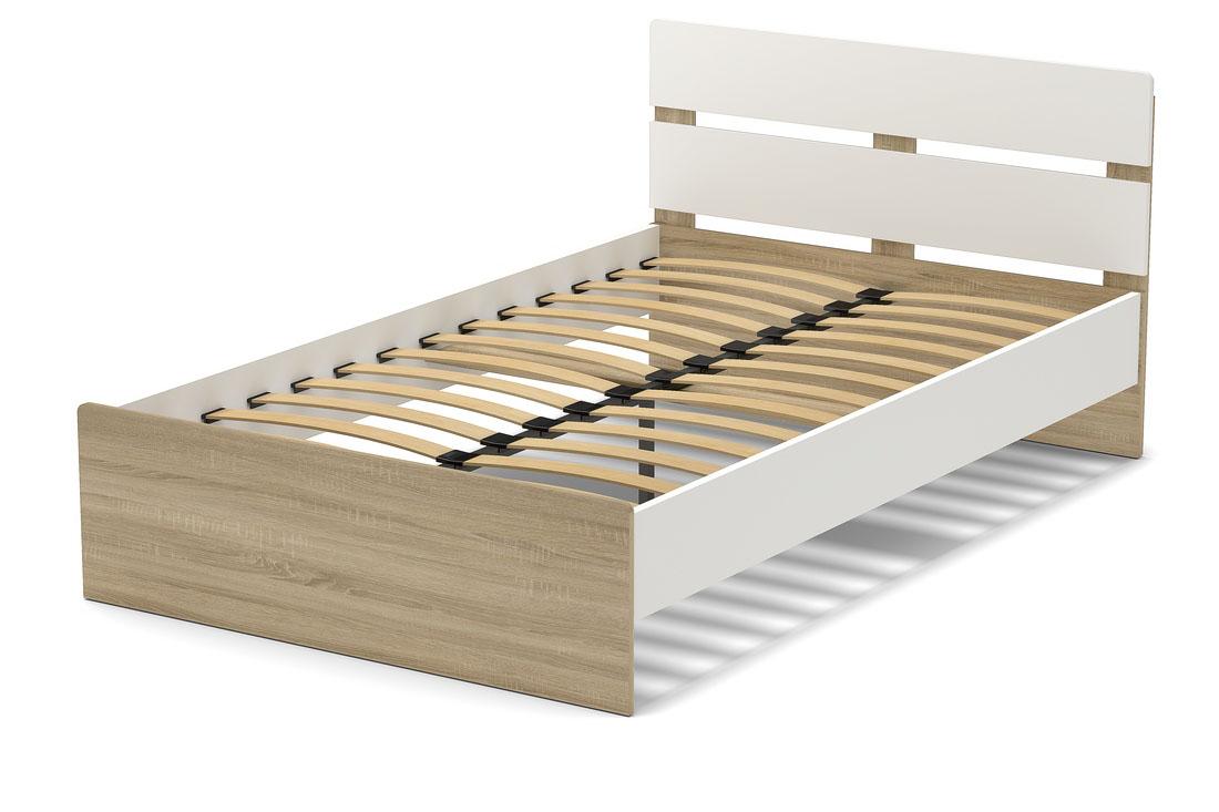 кровать 1200 дуб сонома. белый