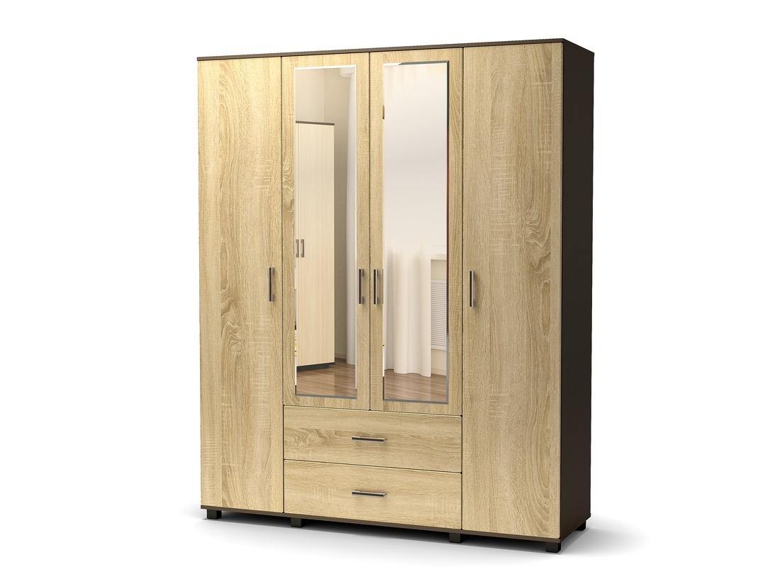 шкаф 4 ств дуб сонома - венге