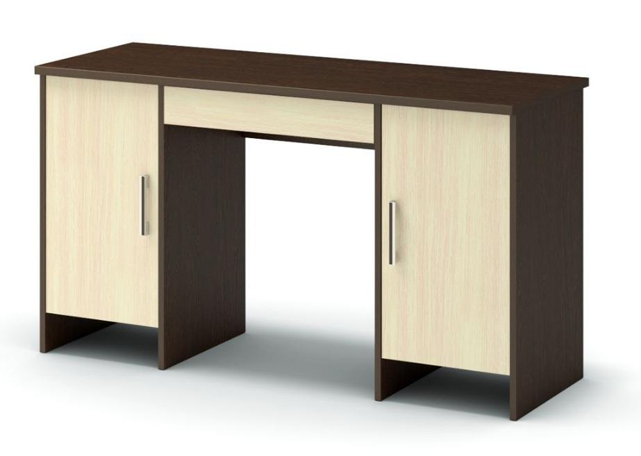 стол письменный с двумя тумбами венге  дуб млечный