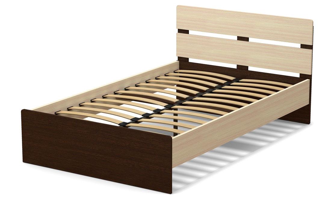 Кровать 1200 мм венге и дуб модочный