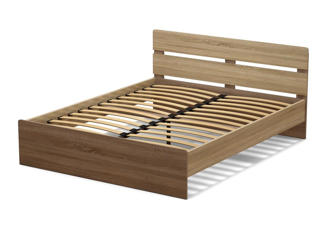кровать 1600 мм дуб сонома