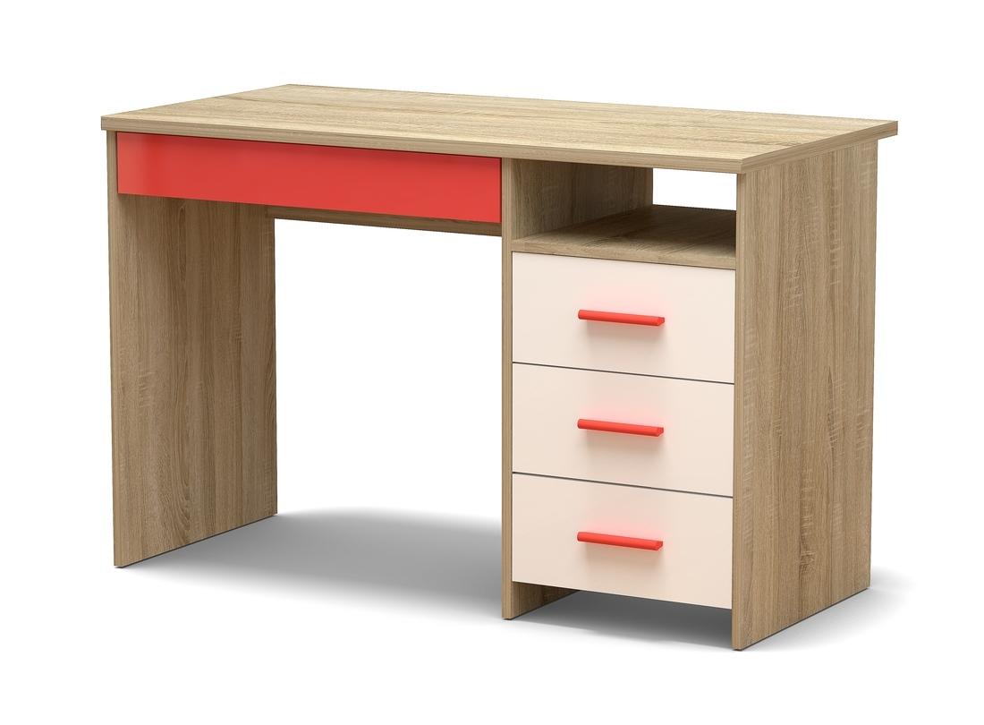 стол письменный красный
